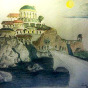 """Parum"" - colored pencil on white paper (sketch)"