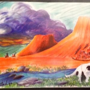 """""""The West"""" - pastel on paper"""