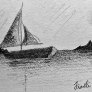 """Sail"" - pencil on white paper"