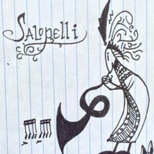 """Salopelli"" - black ink on notebook paper (sketch)"